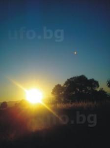слънце и светлинен обект