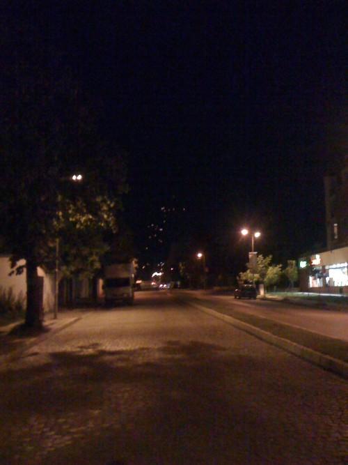 Светлини в нощното небе над София