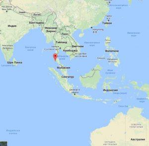 остров Пукет - карта