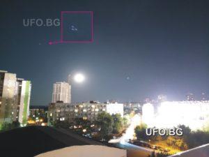 НЛО над Бургас, 10.07.2017 г., 22:40 ч.